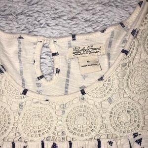 Lucky Brand Tops - Lucky Brand 🍀 | Crochet Knit Blouse 🍀